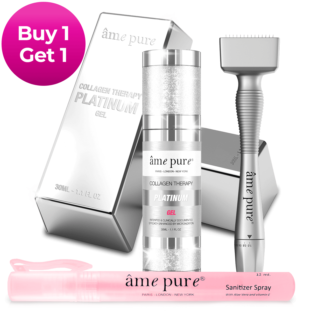 Adjustable Derma Stamp PLATINUM KIT | Buy 1 Get 1