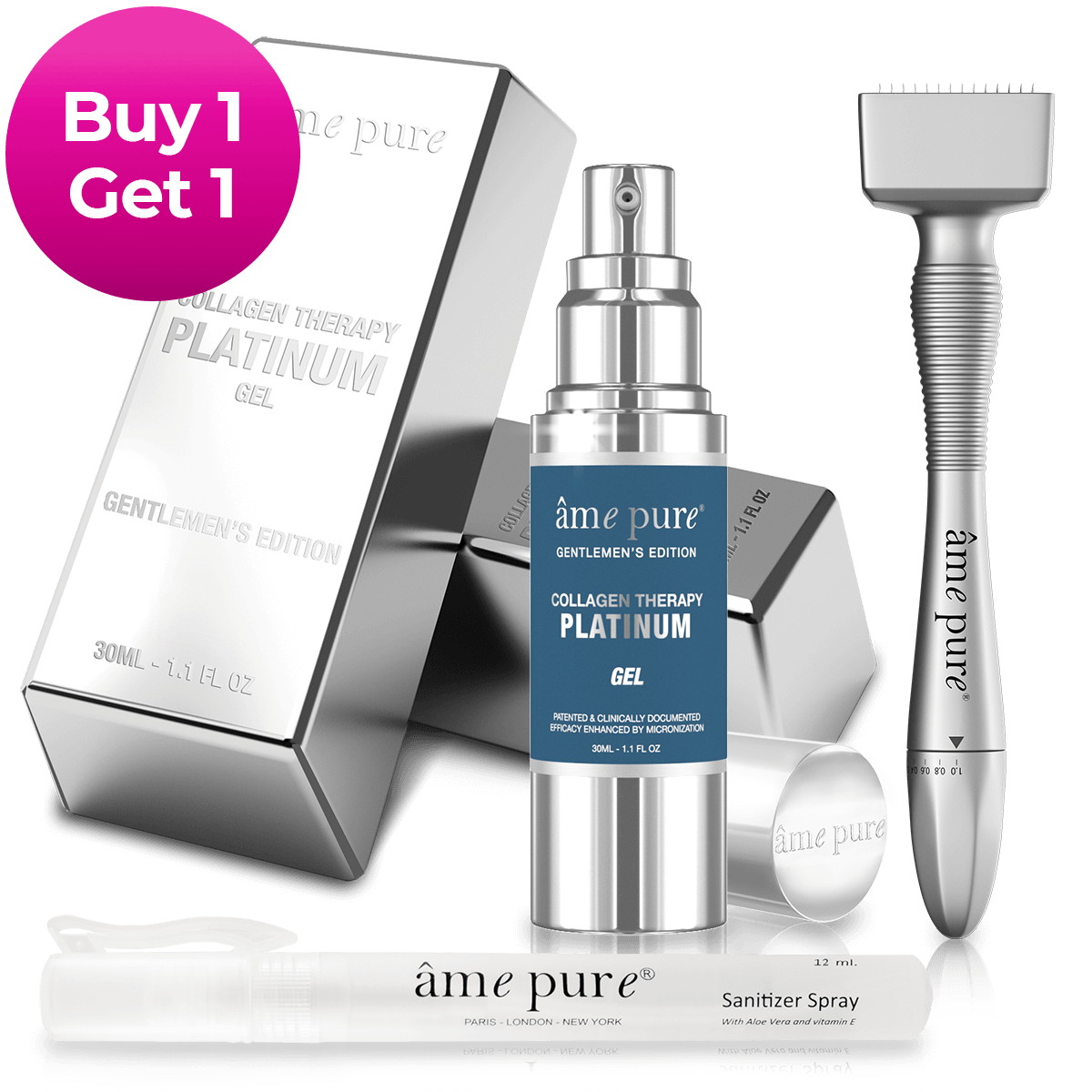 Adjustable Derma Stamp PLATINUM GENTLEMEN KIT | Buy 1 Get 1