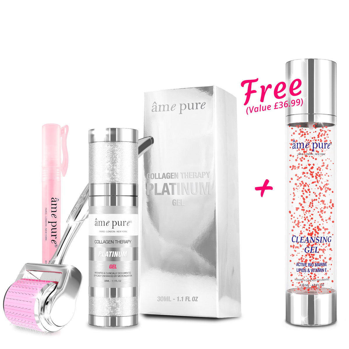 CIT Face Roller PLATINUM + FREE Cleansing Gel