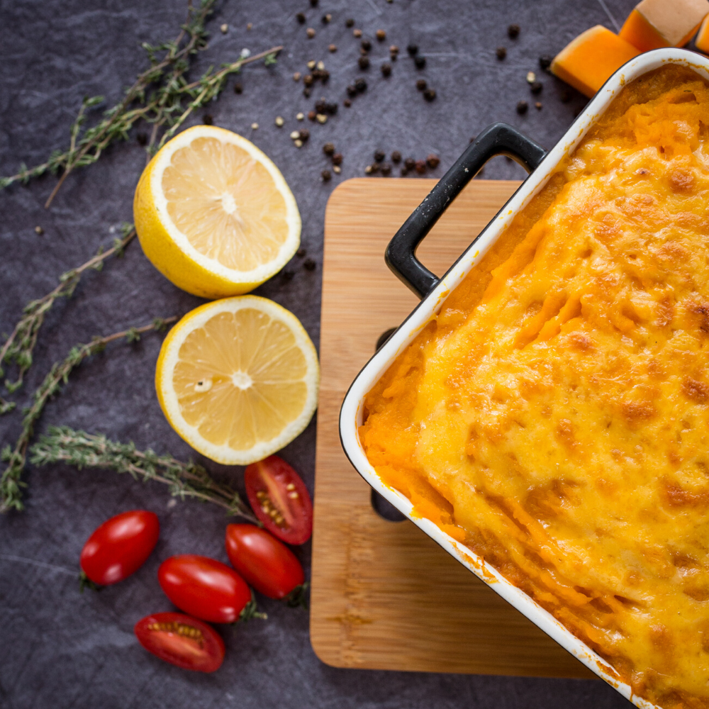 Cheesy butternut & beef cottage pie 1kg