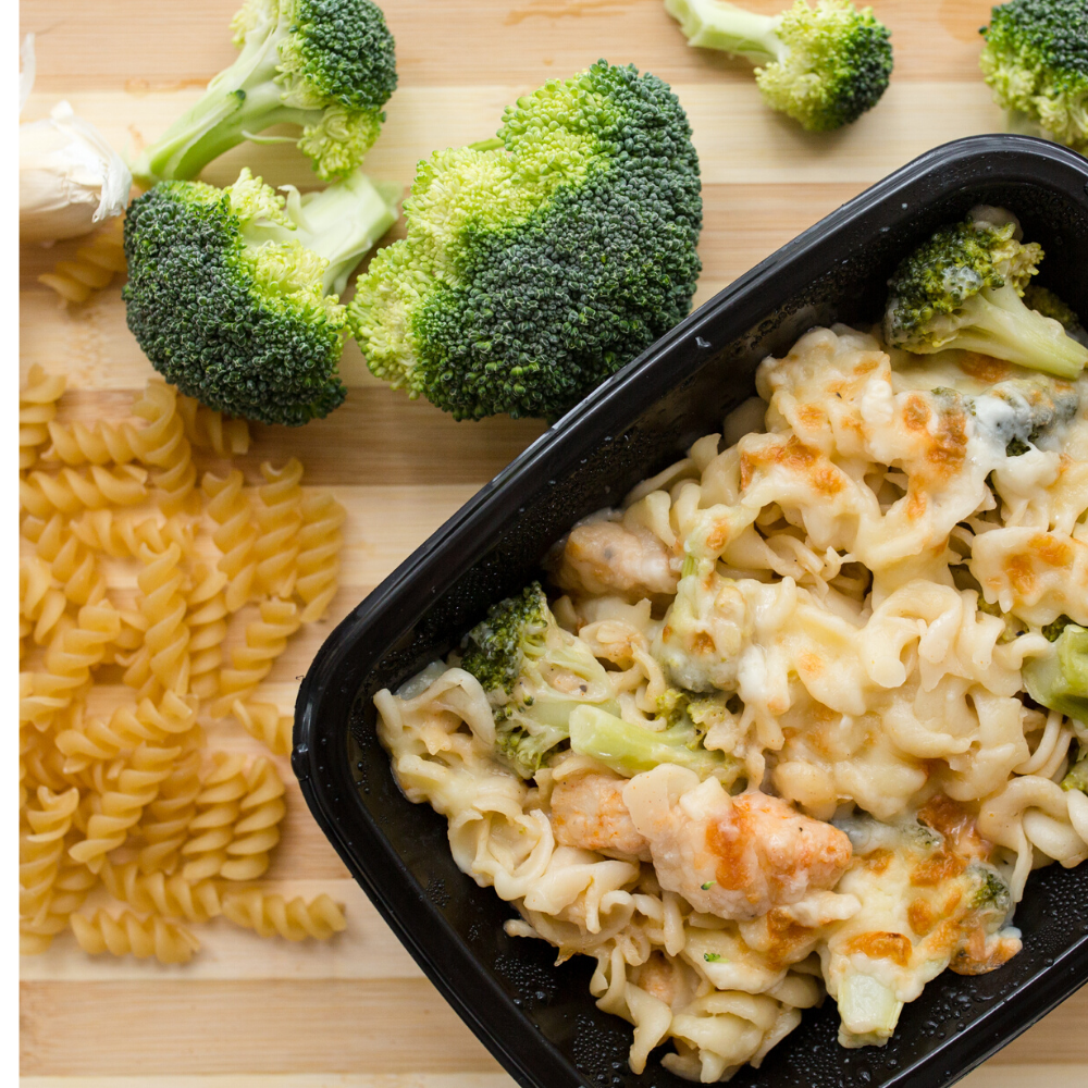 Creamy broccoli, chicken and pasta bake 300g