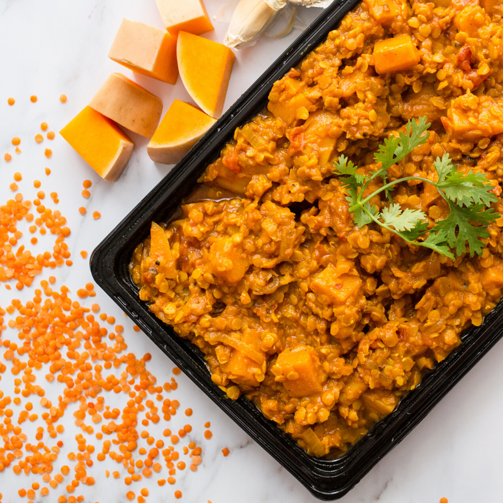 Slow cooked butternut and red lentil curry 1kg