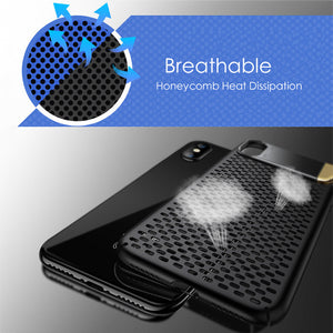 Shockproof Heat Dissipation Case For iPhone X with Kickstand