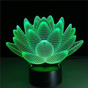 3D Plant Lamp with Changing Light Effects