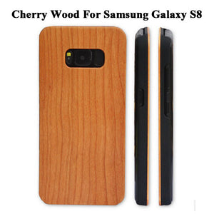 Genuine Wood Hard Protector Cover For Samsung Galaxy S8 S6 edge Plus Case Real Rosewood Bamboo Cherry Wooden Phone Cases