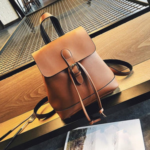 women's leather Backpack Leather printed School Bags For Teenagers Girls Backpacks bao bao #5M