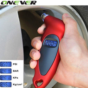 LCD Digital Bicycle Bike Car Tire Diagnostic Tool Universal Tire Tyre Air Pressure Gauge Tester Tool Digital Pressure Gauge