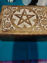 Pentagram Keepsake Wooden Box - Spiritual Magic Journey