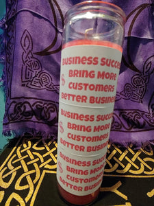7 Day Business Success PINK Candle - Spiritual Magic Journey