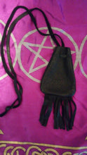 Black Leather Medicine Pouch/Bag - Spiritual Magic Journey