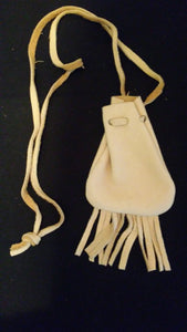 Tan Leather Medicine Pouch/Bag - Spiritual Magic Journey