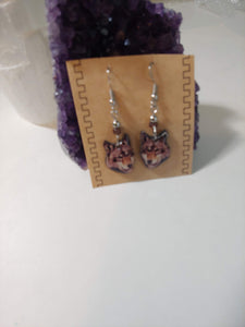 Handmade Wolf Face Earrings - Spiritual Magic Journey