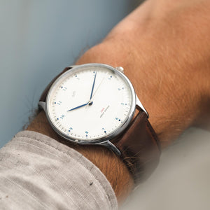Montre 1969 VINTAGE STEEL WHITE Marron