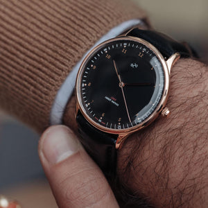 Montre 1969 VINTAGE BLACK Or Rose