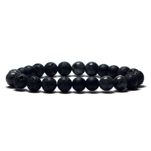 bracelet therapeutique homme pierre lave