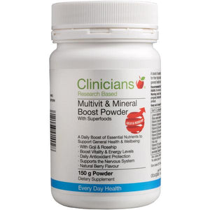 Clinicians MultiVit & Mineral Boost Powder with Superfoods
