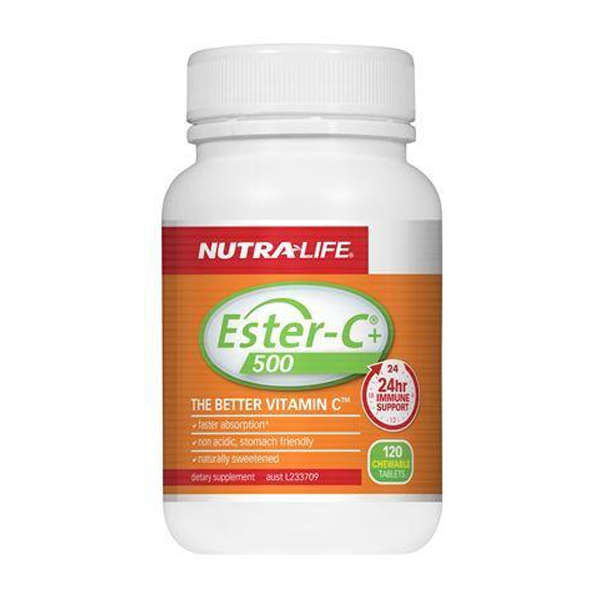 Nutra Life Ester-C 500mg Lem/Lime Chew