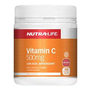 Nutra Life Vitamin C 500mg 200+100 Chews