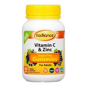 Radiance Sugar Free Vitamin C & Zinc Gummies For Adults