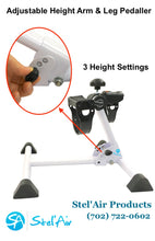 Stel'Air Adjustable Height Pedal Exerciser for Arms & Legs RW-649