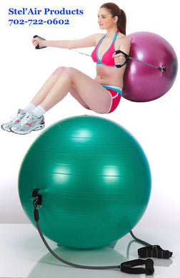 Stability Ball with Exercise Bands VF-655