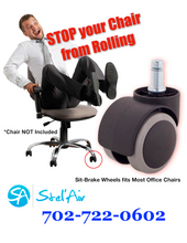 STOP Chair from Rolling with Stel'Air Compression Sit-Brake Casters 3F-AB2