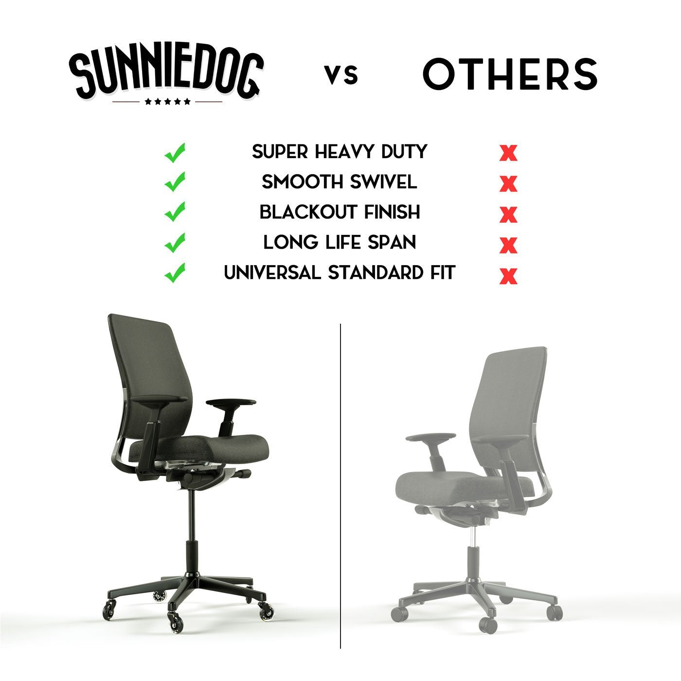 SunnieDog Office Chair Gas Lift Cylinder - SunnieDog