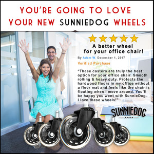 SunnieDog Office Chair Wheels - SunnieDog