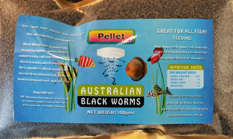 Australian Black Worms - Pellets