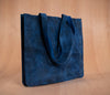 Bolsa mediana piel color azul - TOCO MADERA - Handcraft shoe from Mexico - Zapato artesanal