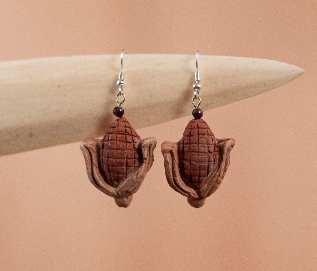 Barro Cob Earrings - TOCO MADERA - Handcraft shoe from Mexico - Handmade shoe