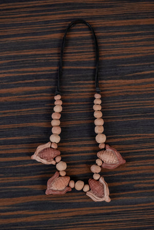 Mud Cobs Necklace 2 - TOCO MADERA - Handcraft shoe from Mexico - Handmade shoe