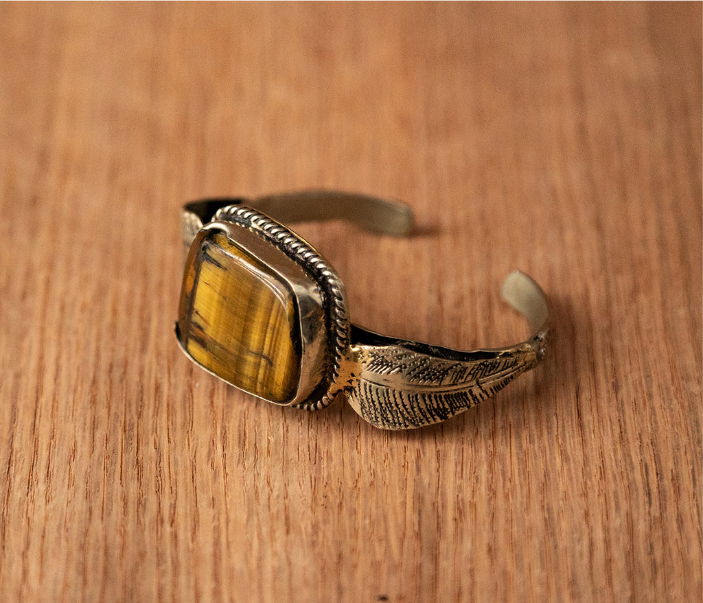 Stone bracelet - TOCO MADERA - Handcraft shoe from Mexico - Handmade shoe