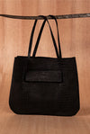 Black crocodile bag - TOCO MADERA - Handcraft shoe from Mexico - Handmade shoe