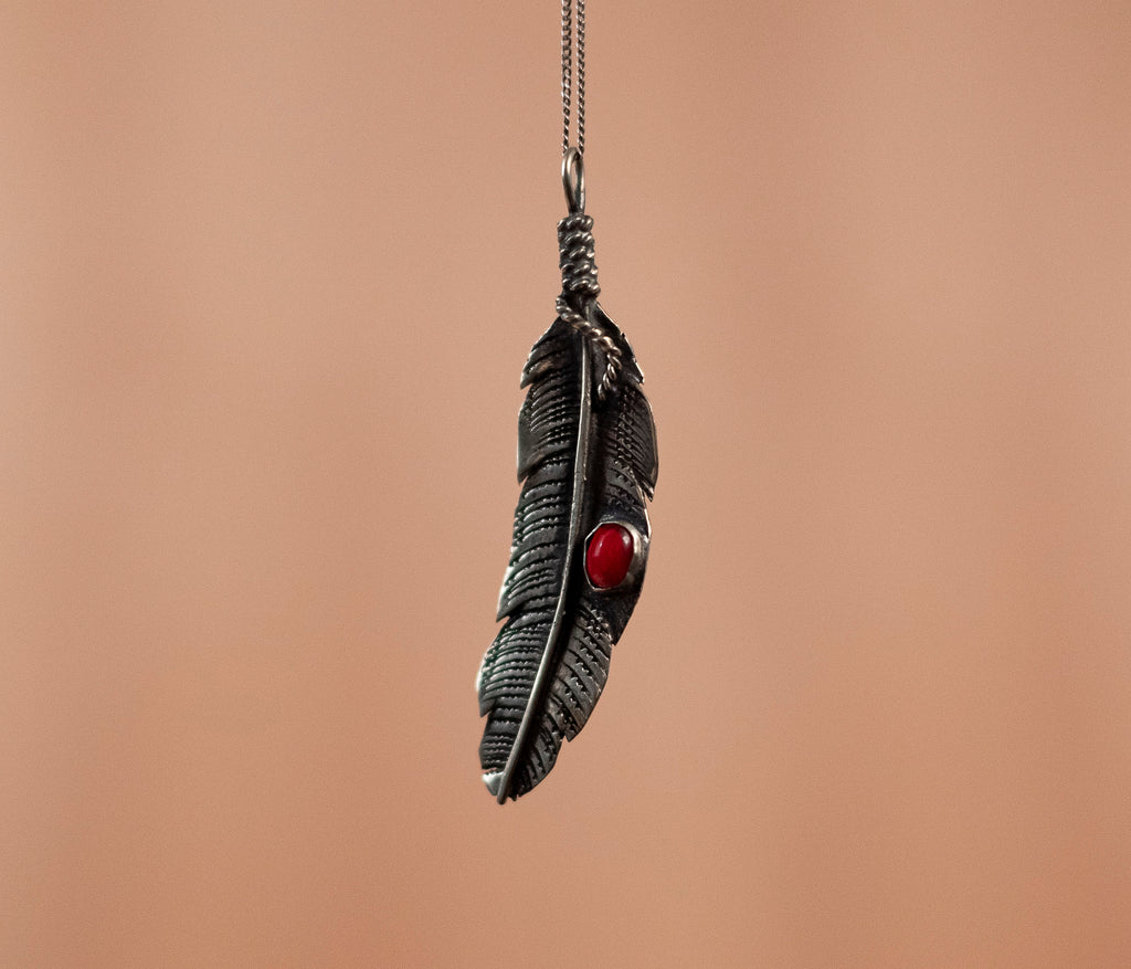 Pendant tinplate pen detail red - TOCO WOOD - Handcraft shoe from Mexico - Handmade shoe