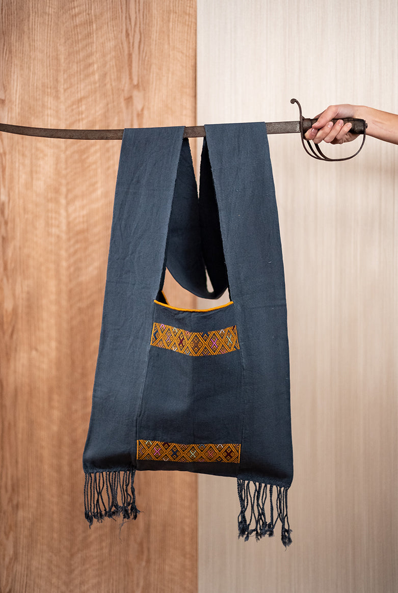 Backpack in blue loom - TOCO MADERA - Handcraft shoe from Mexico - Handmade shoe