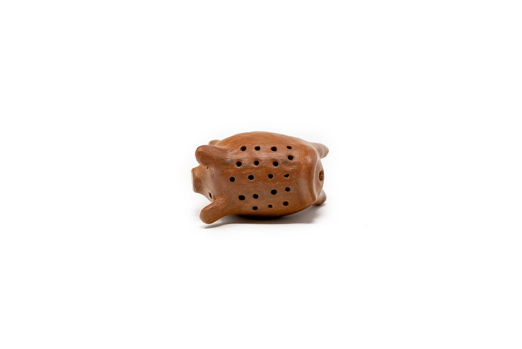 Toothpick stick made of natural clay from Oaxaca in the shape of a pig - TOCO MADERA - Handcraft shoe from Mexico - Handmade shoe