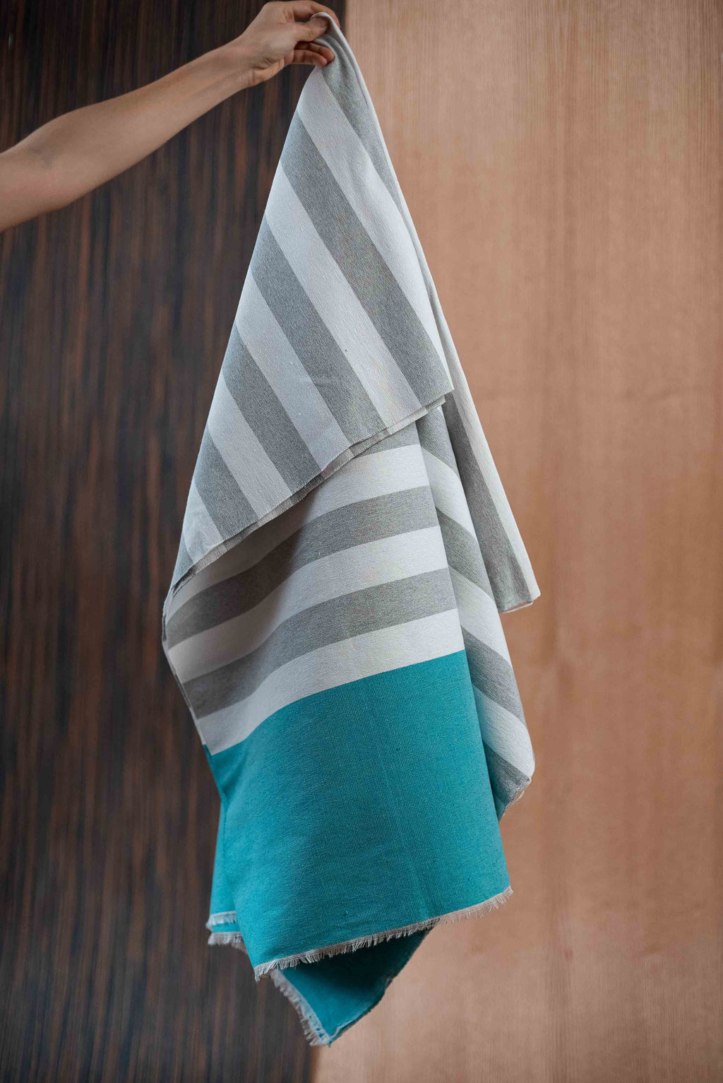 Gray blue towel - TOCO MADERA - Handcraft shoe from Mexico - Handmade shoe
