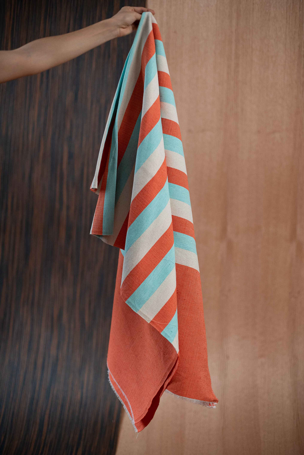 Orange blue towel - TOCO MADERA - Handcraft shoe from Mexico - Handmade shoe