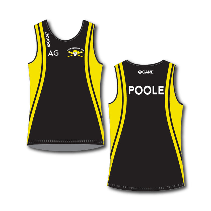 Poole Gig Club Mens Rowing Vest Standard Length