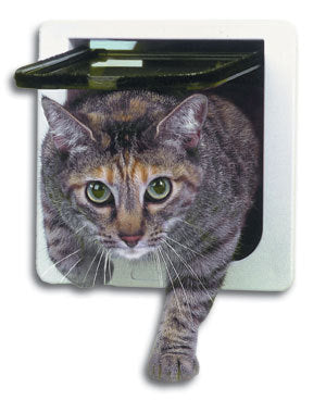 Cat Flap Door Kitten Dog Pet Lock Heavy Duty Suitable for Any Wall or Door Freeshipping