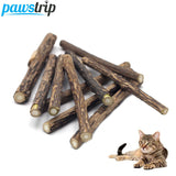 10pcs/lot Pure Natural Catnip Pet Cat Snacks Sticks Cleaning Tooth Cat Toys