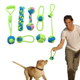 Cotton Dog Rope Toy Knot Puppy Chew Teething Toys Teeth Cleaning Pet Palying Ball For Small Medium Large Dogs