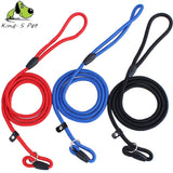 Pet Solid Nylon Lead Leash Control Restraint Cat Puppy Dog Lead Leash Soft Walk Size S-L Red Black Blue  Free Shipping