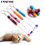 OnnPnnQ Funny Pet Cat Toys LED Laser Pointer light Pen With Bright Animation Mouse Shadow Interactive Holder For Cats Training