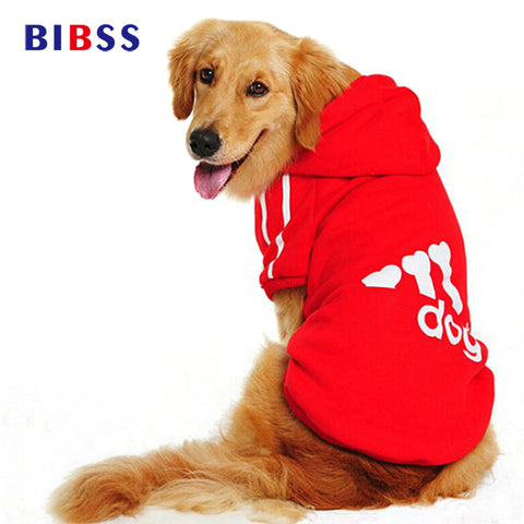 Plus Size Large Dog Clothes Autumn/Winter Warm Soft Dog Coat Jacket Big Dog Clothing Sports Hoodie for Golden Retriever 2XL-7XL