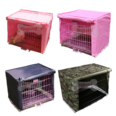 Waterproof Polyester Dog Cat Cage Cover Outdoor Pet Kennel Crate Cover Durable Puppy Cat Cage Cover Blanket Breathable Pet House