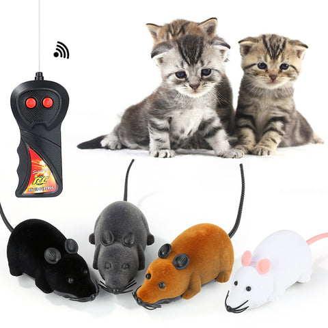 2018 Lovelty  colorful  Funny Pet Cat mice Toy Wireless RC Gray Rat Mice Toy Remote Control mouse For kids gift toys