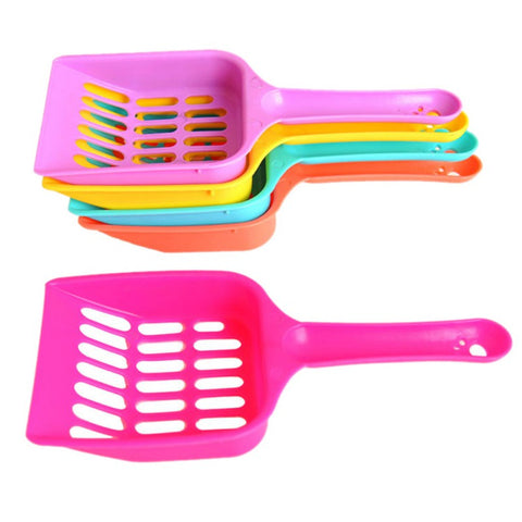 Useful Cat Litter Shovel Pet Cleanning Tool Plastic Scoop Cat Sand Cleaning Products Toilet For Dog Food Spoons 2017