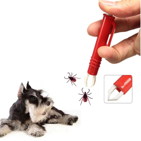 Pet Tick Remover Grooming Tool Cat Dog Hair Flea Cleanning Tweezer Pet Hair Tick Twister Removing Flea Tick for Dogs Cats